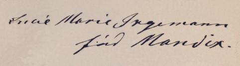 Lucie Marie Mandix underskrift